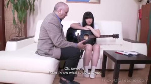 Tricky Old Teacher - Sexy Petite Brunette Asks Teachers For A Private Lesson. Gets Fucked Instead!